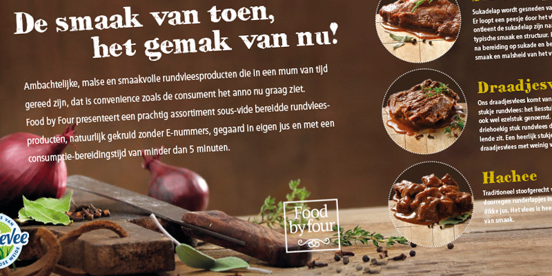 Food by Four gegaard rundvlees - Sigtbaar Reclamebureau Vroomshoop
